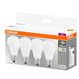 Osram LED E27 Warm White (2700 K) 9W Matt 4pcs